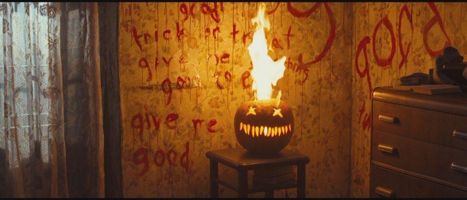 trick r treat flaming pumpkin