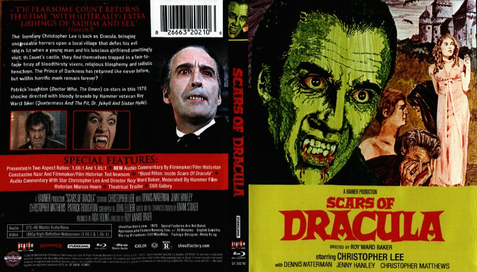 Scars of Dracula front cover