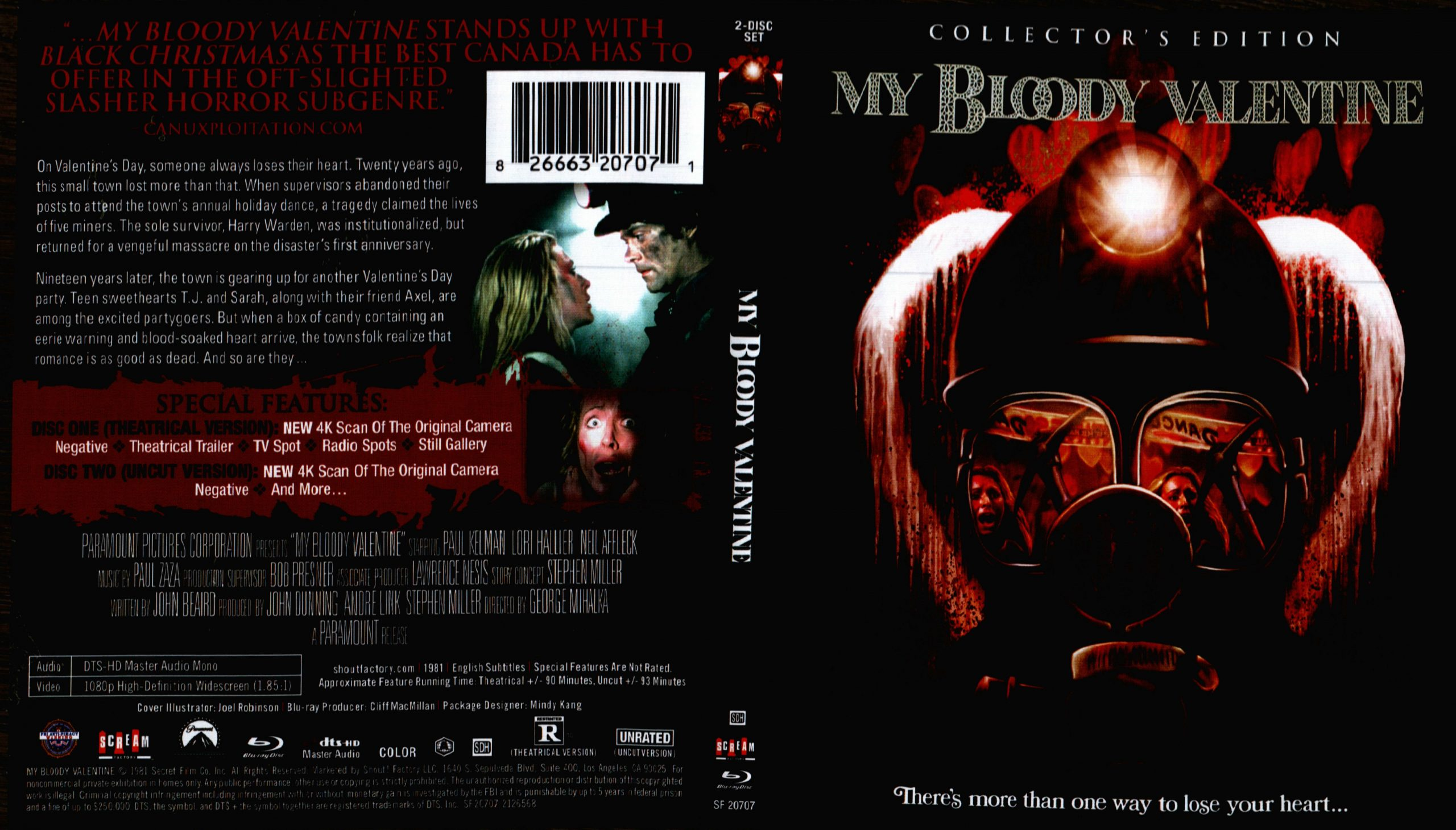 My Bloody Valentine Blu Ray Review Scream Factory Cultsploitation