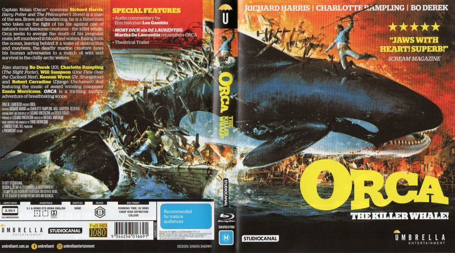 Orca Umbrella Entertainment Reverse Sleeve