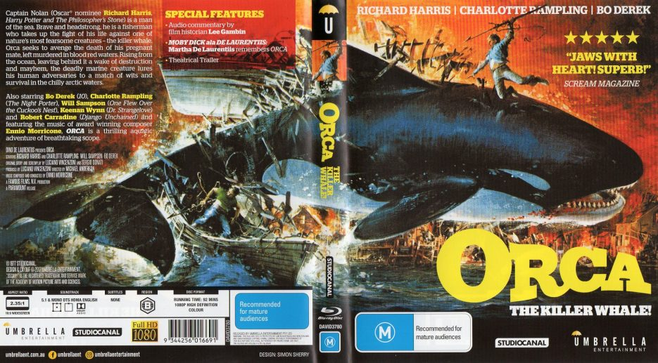 Orca Umbrella Entertainment Front Sleeve