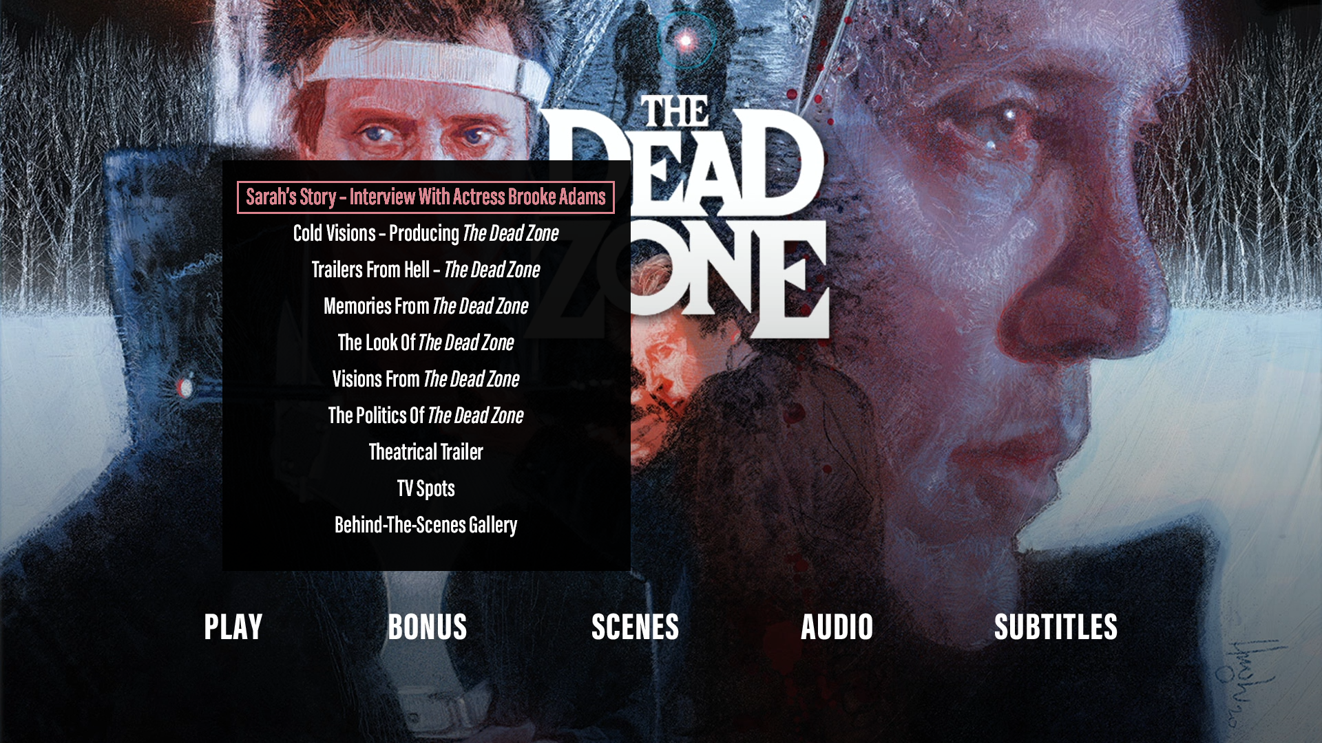 The Dead Zone extras menu