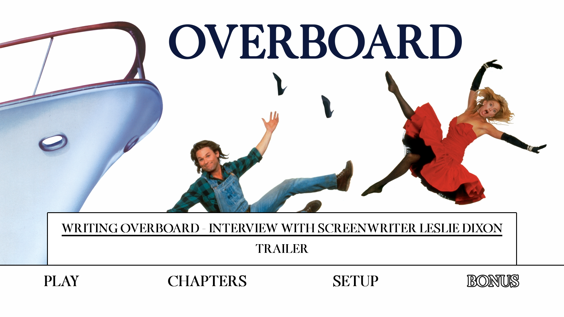 Overboard extras menu